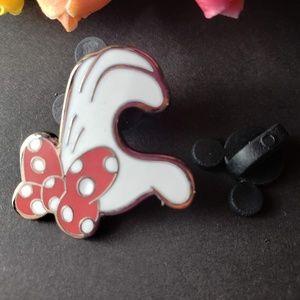 4/$25 Disney Minnie Mouse Glove Half Heart Pin